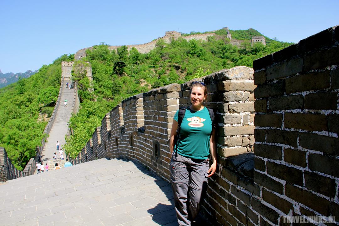Chinese muur bij Beijing