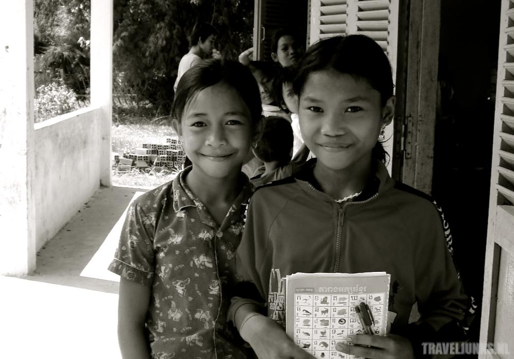 Cambodja Chhuk Leerlingen