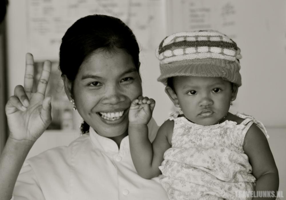 Cambodja Moeder en Kind