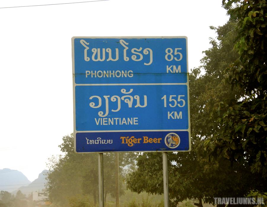 Vang Vieng roadsign