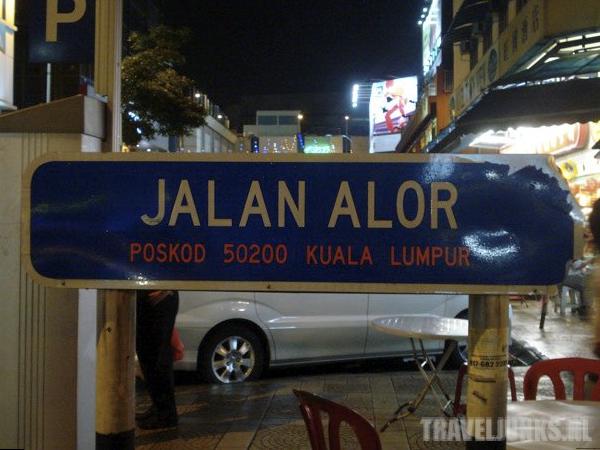 Jalan Alor straatbord