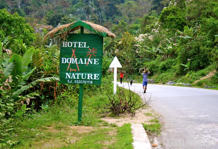 Ranomafana Domaine Nature sign