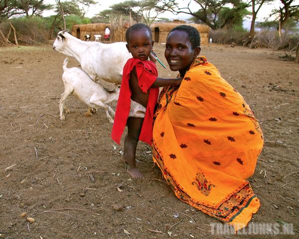 Kenia Masai vrouw