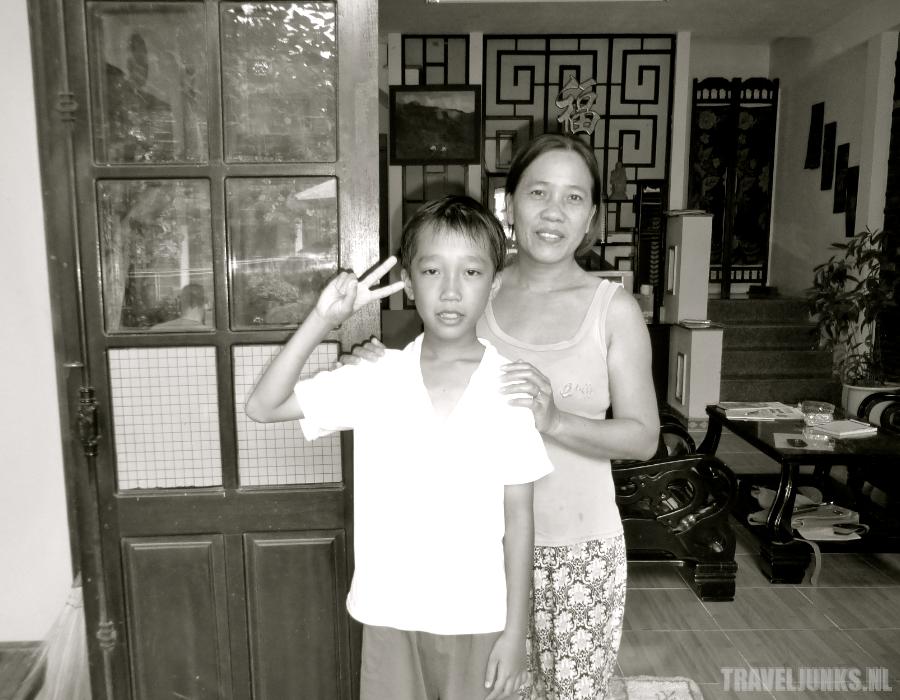 Vietnam moeder en zoon
