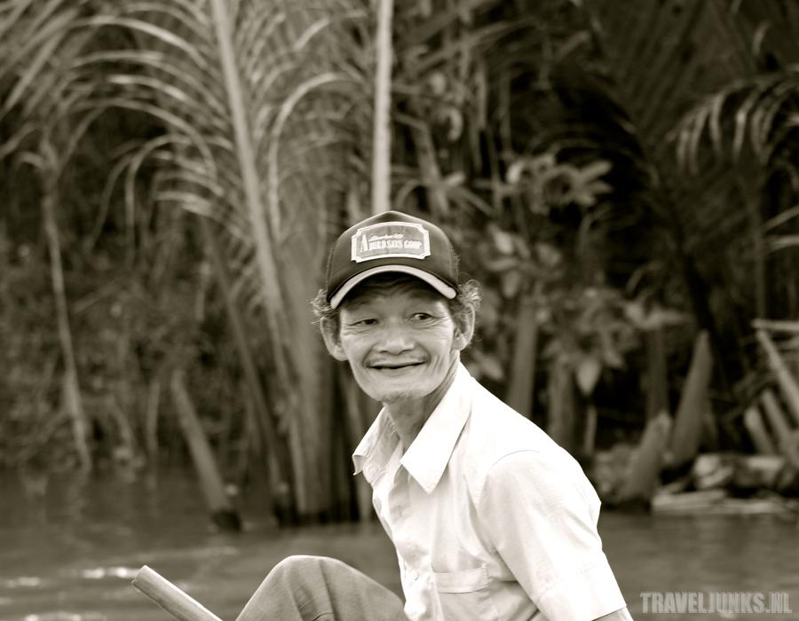 Vietnam roeier mekong delta