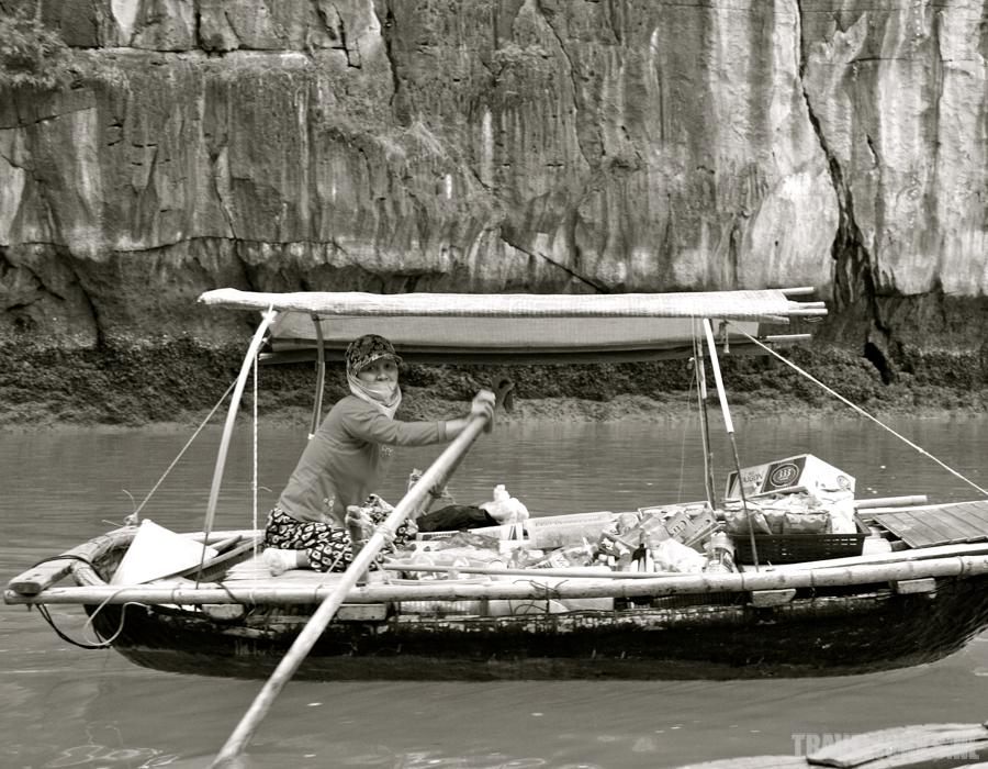 Vietnam verkoopster halong bay