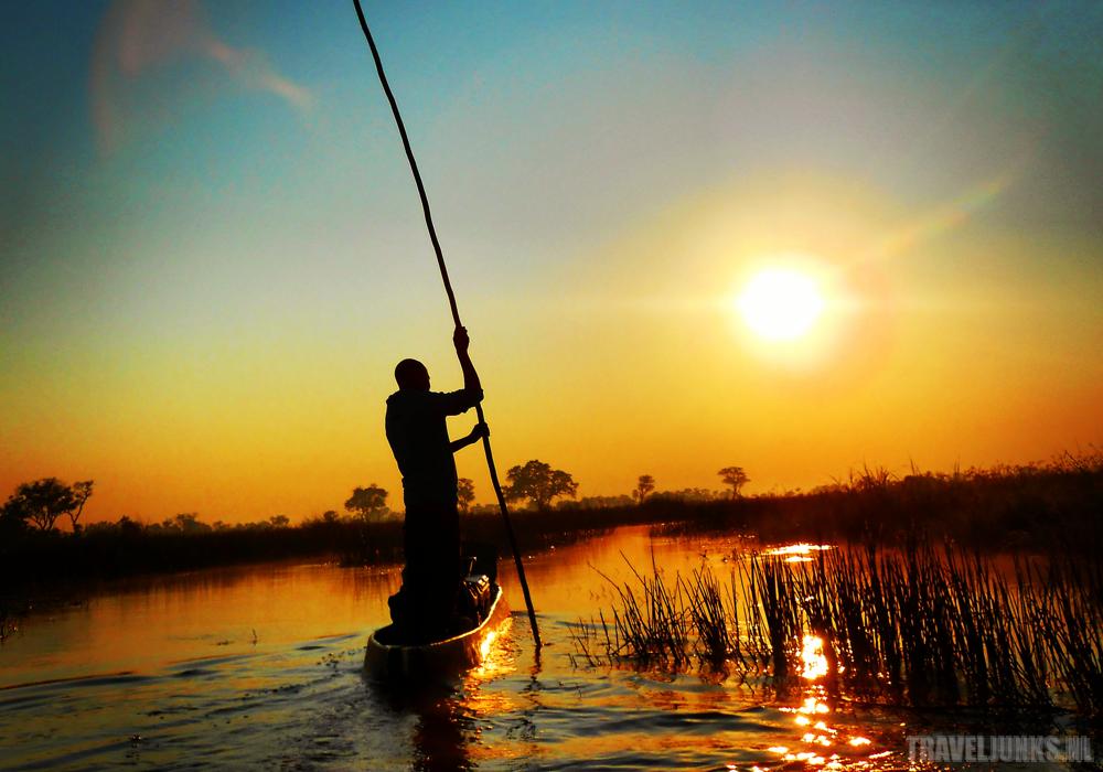Okavango sunset boot