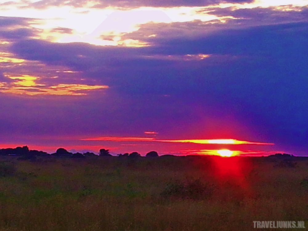 Congo zonsondergang